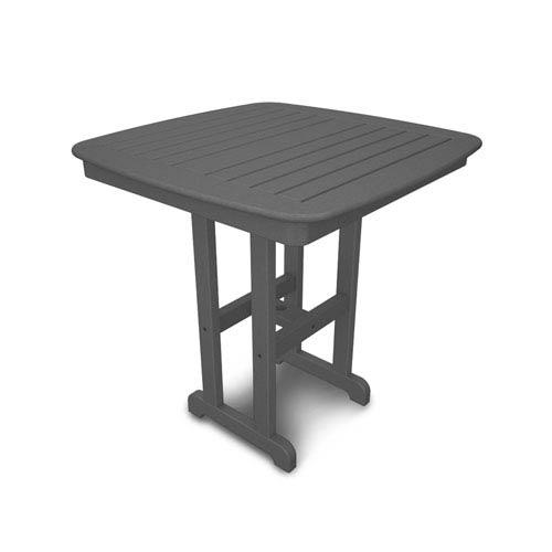 POLYWOOD® Nautical Slate Grey 37 Inch Counter Height Table