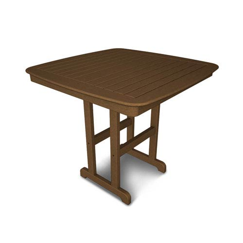 Nautical Teak 44 Inch Counter Height Table
