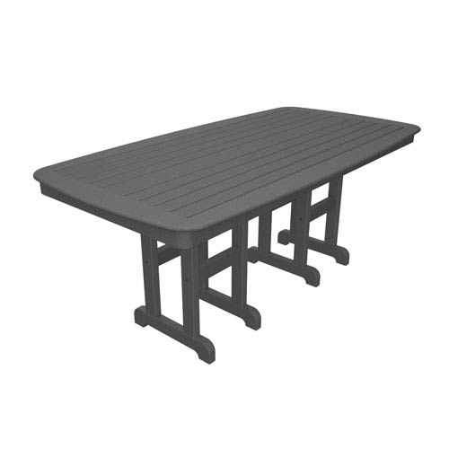 Polywood Nautical Slate Grey 37 Inch X 72 Dining Table