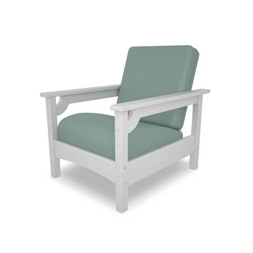 Club Chair in White/Spa