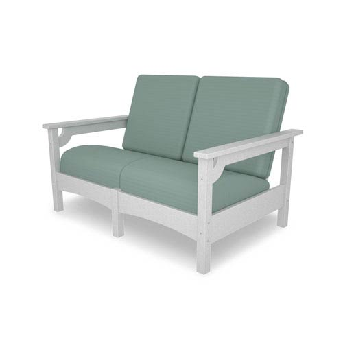 POLYWOOD® Club Settee in White/Spa