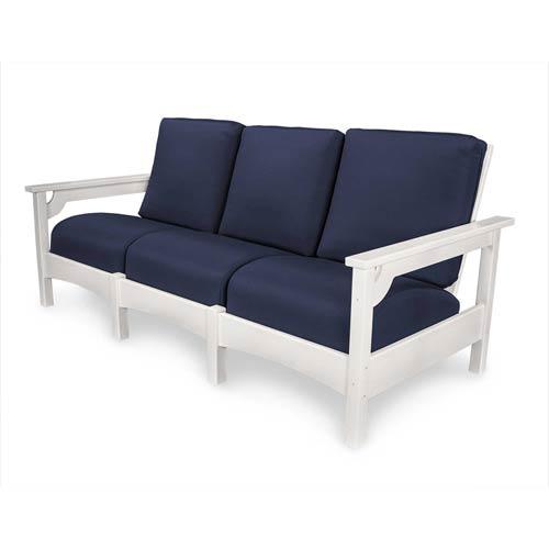 Navy Club Sofa