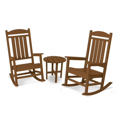 POLYWOOD® Presidential 3-Pc. Rocker Set in Teak