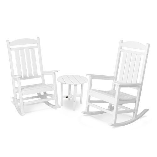 POLYWOOD® Presidential 3-Pc. Rocker Set in White