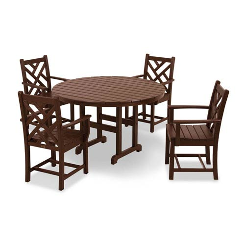Chippendale Five-Piece Dining Set in Mahogany
