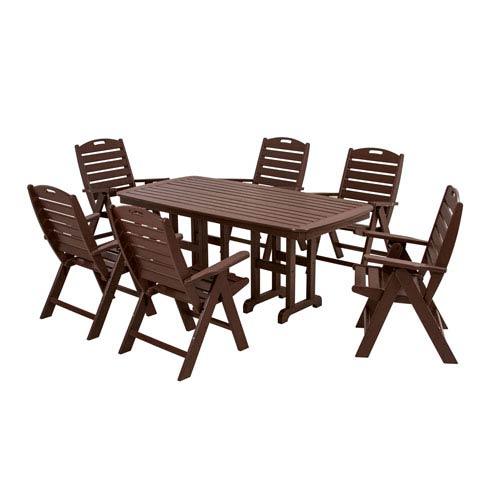 POLYWOOD® Nautical Seven-Piece Dining Set in Mahogany