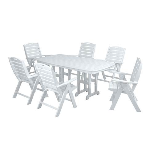 Nautical Seven Piece Dining Set In White