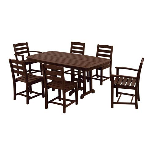 La Casa Cafe Seven-Piece Dining Set in Mahogany
