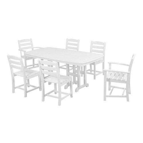 La Casa Cafe Seven-Piece Dining Set in White