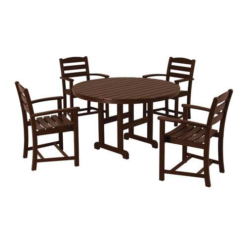 POLYWOOD® La Casa Cafe Five Piece Dining Set In Mahogany