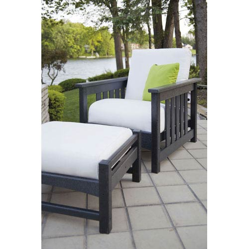 Mission Two-Piece Deep Seating Set in Black/Bird Eye