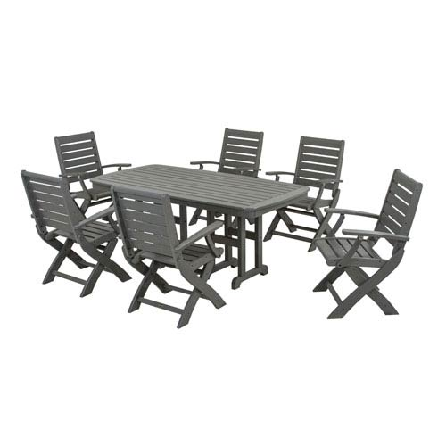 POLYWOOD® Signature Seven Piece Dining Set In Slate Grey