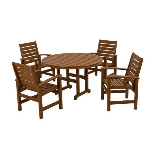 Signature Five-Piece Dining Set in Teak