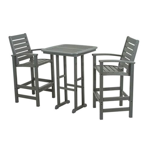 Signature Three-Piece Bar Set in Slate Grey