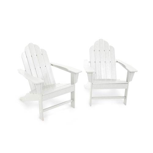 POLYWOOD® Long Island White Adirondack 98-Inch Two Piece Seating Set