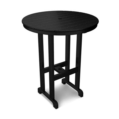 POLYWOOD® La Casa Café Black Round 36 Inch Bar Height Table