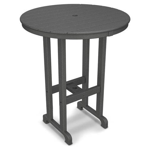 POLYWOOD® La Casa Café Slate Grey Round 36 Inch Bar Height Table