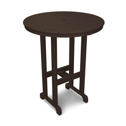 La Casa Café Mahogany Round 36 Inch Bar Height Table