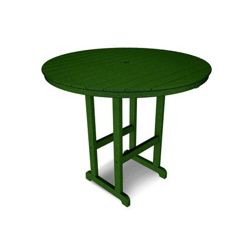 Polywood La Casa Café Green Round 48 Inch Bar Height Table