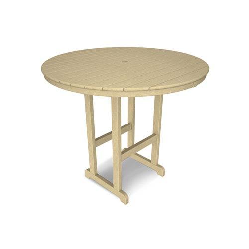 La Casa Café Sand Round 48 Inch Bar Height Table