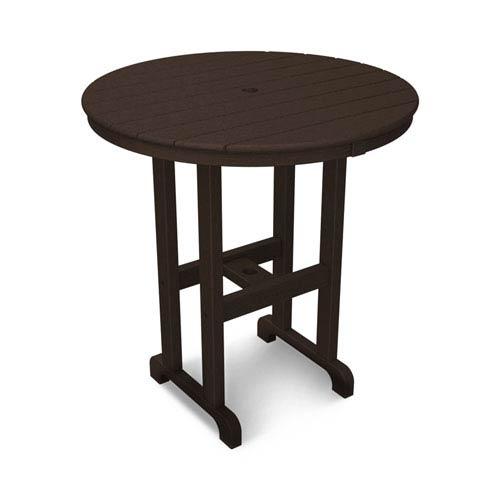 La Casa Café Mahogany Round 36 Inch Counter Height Table