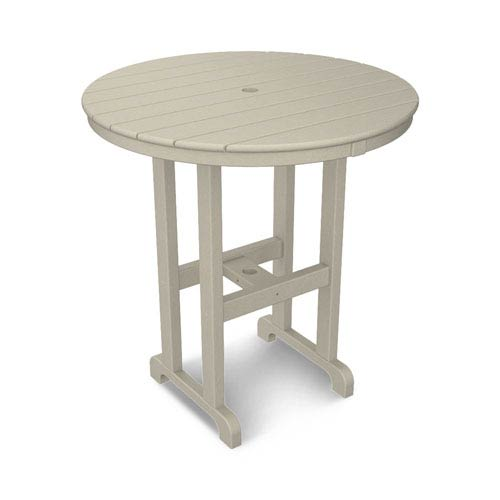 La Casa Café Sand Round 36 Inch Counter Height Table
