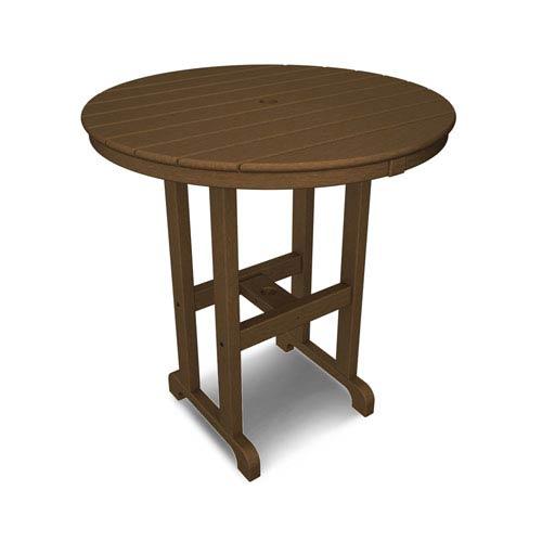 La Casa Café Teak Round 36 Inch Counter Height Table