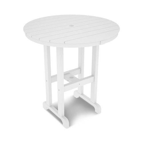 La Casa Café White Round 36 Inch Counter Height Table