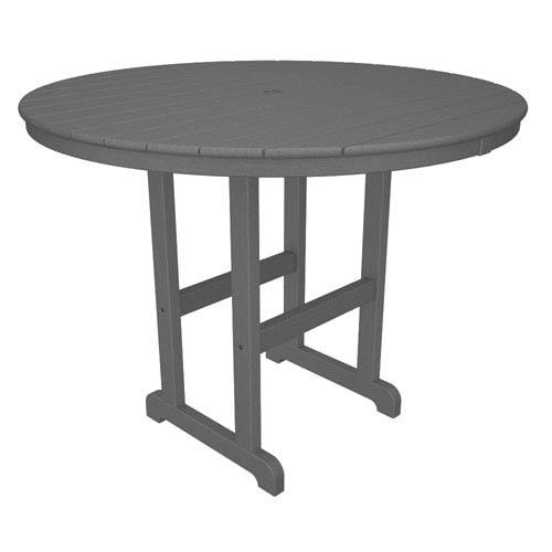 La Casa Café Slate Grey Round 48 Inch Counter Height Table