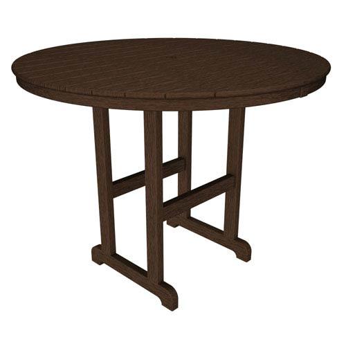 La Casa Café Mahogany Round 48 Inch Counter Height Table