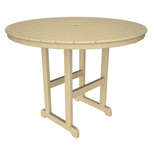 La Casa Café Sand Round 48 Inch Counter Height Table