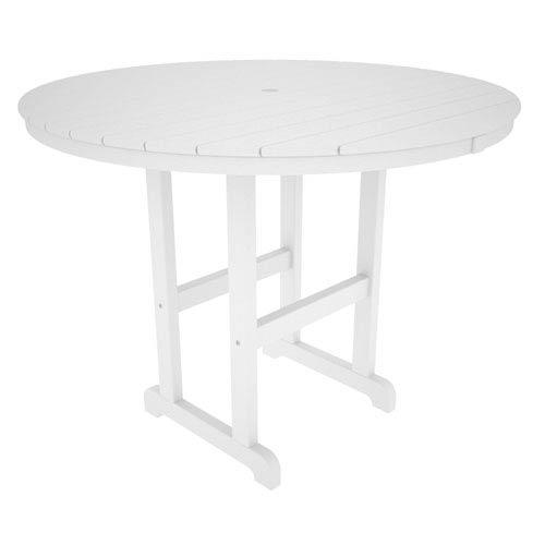 La Casa Café White Round 48 Inch Counter Height Table