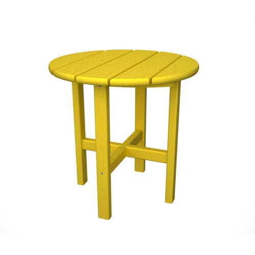 Lemon Round 18 Inch Side Table