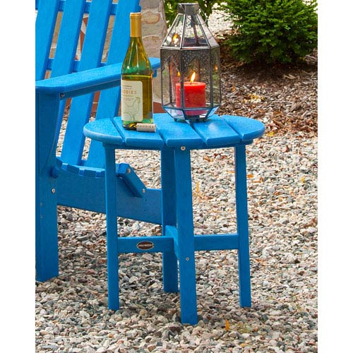 Polywood 174 Pacific Blue Round 18 Inch Side Table Rst18pb