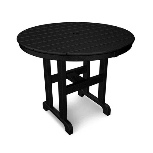 La Casa Café Black Round 36 Inch Dining Table