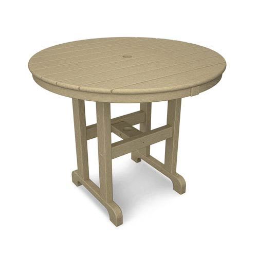 La Casa Café Sand Round 36 Inch Dining Table