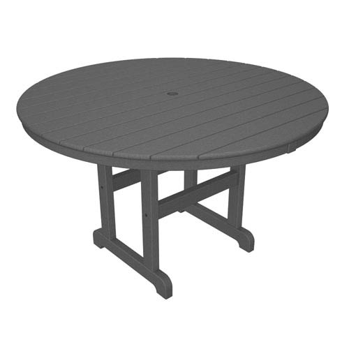 La Casa Café Slate Grey Round 48 Inch Dining Table