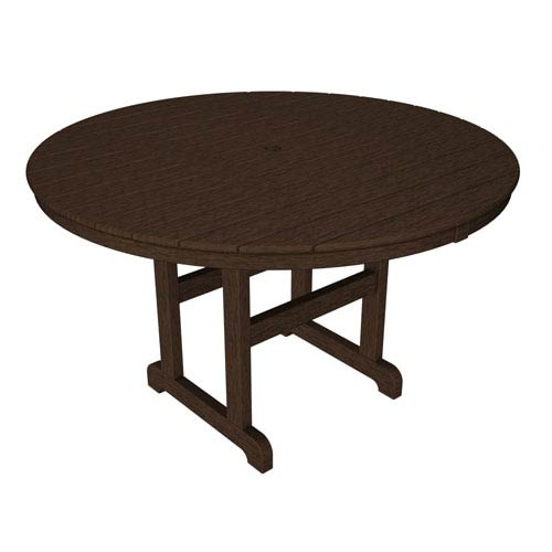 La Casa Café Mahogany Round 48 Inch Dining Table