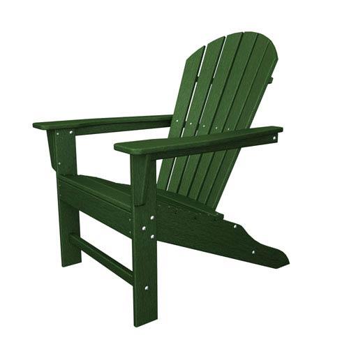 POLYWOOD® South Beach Adirondack Green Chair