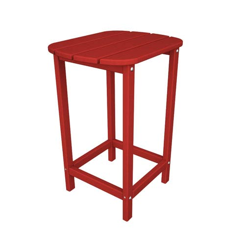 South Beach Adirondack Sunset Red 26 Inch Counter Side Table