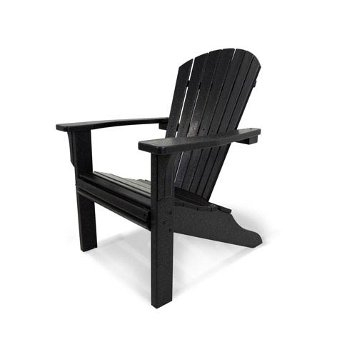 Seashell Adirondack Black Adirondack Chair