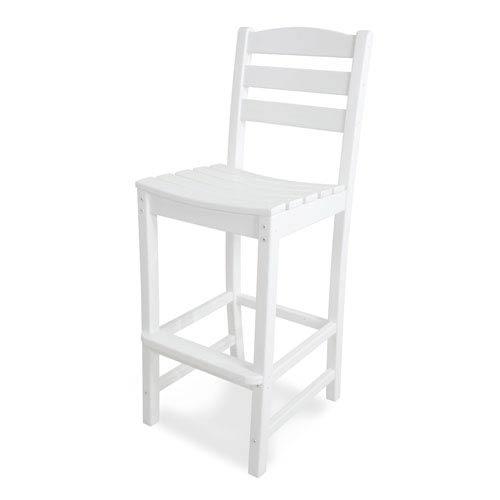 La Casa Café White Bar Height Side Chair