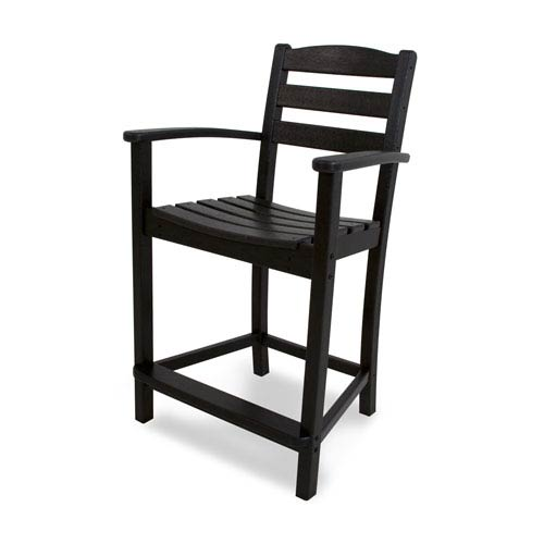 La Casa Café Black Counter Height Arm Chair
