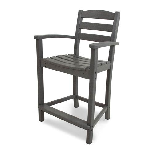 La Casa Café Slate Grey Counter Height Arm Chair