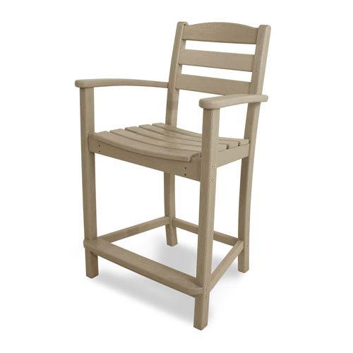 POLYWOOD® La Casa Café Sand Counter Height Arm Chair