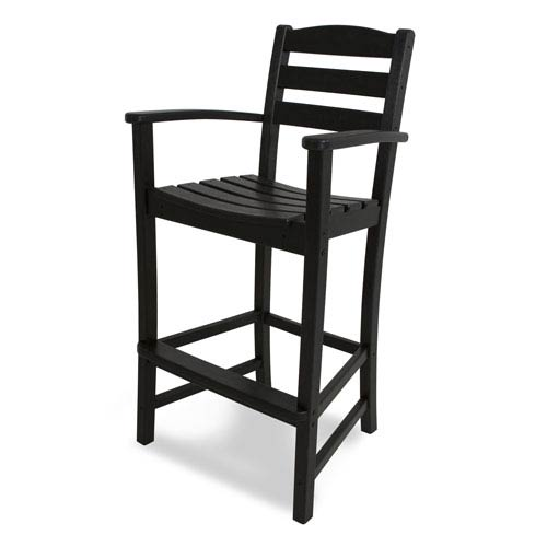 La Casa Café Black Bar Height Arm Chair