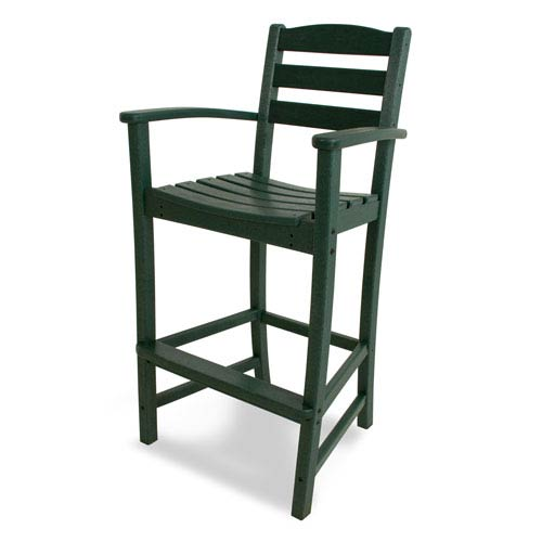 La Casa Café Green Bar Height Arm Chair