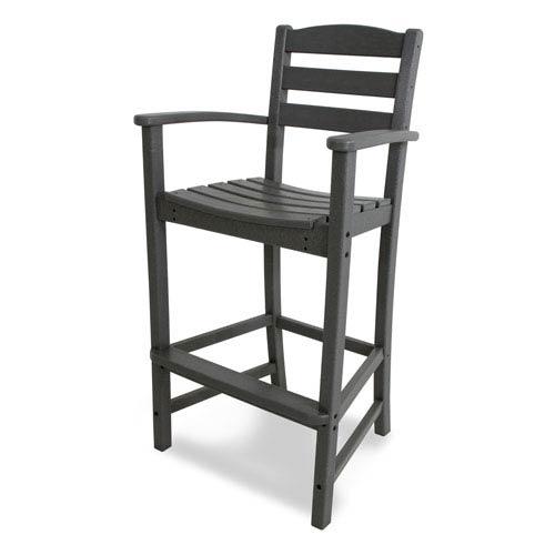 La Casa Café Slate Grey Bar Height Arm Chair