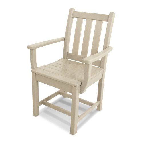 Traditional Garden Sand Dining Arm Chair