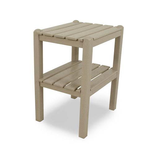 Sand Two Shelf Side Table